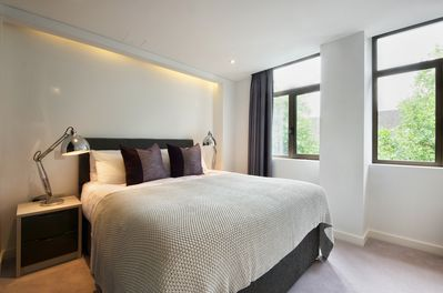 Large double bed in bedroom