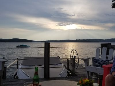 Lake Sunapee Stunning Waterfront House - Sunset and Mountain Views for up to 10