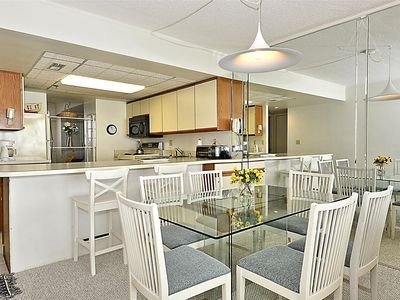 Photo for FREE DAILY ACTIVITIES! Direct Oceanfront 2 bedroom, 2 bath condo with an open den.