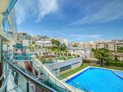 Photo for Apartment with 1 bedroom, swimming-pool, terrace with pool views