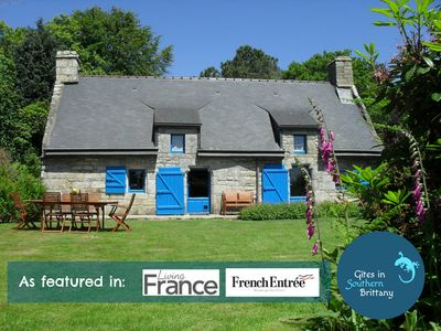 Photo for Charming Family friendly gite: ground floor bedroom, Pool, WiFi, FREE Bikes,View