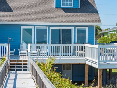 Photo for Dog-friendly oceanfront home with new deck - 3 blocks from downtown Folly!