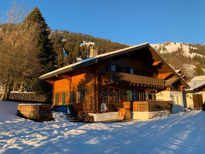 Photo for Beautiful 4 bedroom Chalet to Rent in chic Rougemont, Central Gstaad Ski Region
