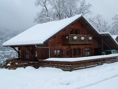 Photo for Chalet Samoens Stunning view, Jacuzzi 6 pers. Sauna and 10 pers.