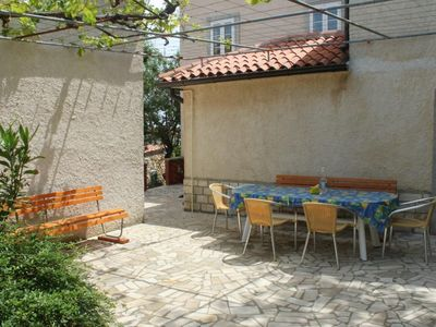 Photo for Two bedroom apartment with terrace Nerezine, Lošinj (A-3479-b)