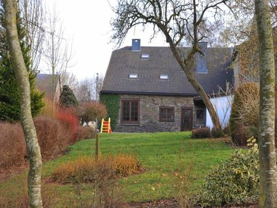 Traditional Ardennes farmhouse in the hamlet of Arbrefontaine a few kilometers from the Baraque de F