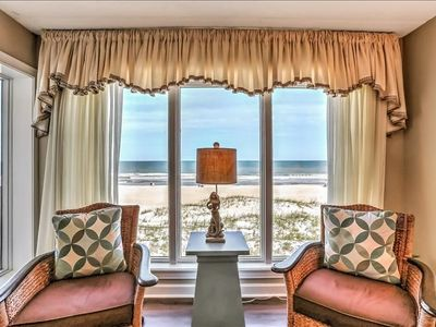 Photo for 2 Bed/2 Bath, 3rd floor condo sleeps 6 .  Oceanfront balcony & pool.