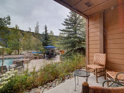 Photo for 2-Bedroom in River Run, Poolside Patio, Slope Views, 2-minute Walk to Gondola