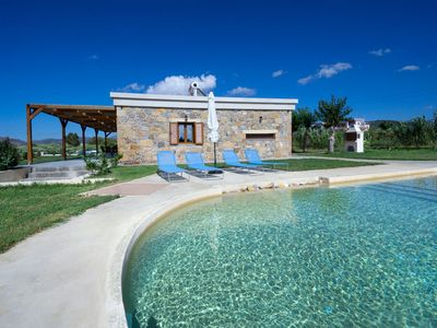 Photo for Iridanos Villa with 3 bedrooms and private pool, 400 meters from the beach