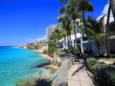 Condo Acadia  -  Ocean Front - Located in  Tropical Porto Cupecoy with House Cleaning Included