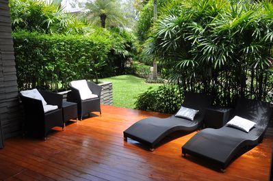 "THE WOODEN DECK. PERFECT FOR ""CHILL OUT""!"