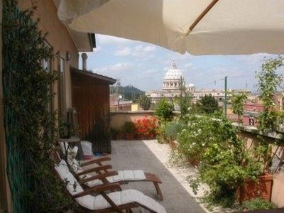Photo for Rome: Attico with flowered terrace on San PIetro