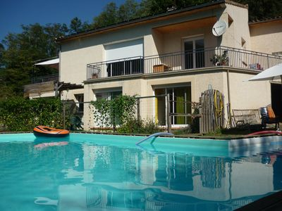 Photo for Apartment with pool near to the Ariege valleys