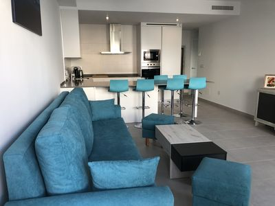 Photo for Modern new villa with private heated pool, hot tub, large solarium and free wifi