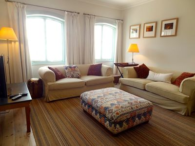 Sunny spacious living room for family and friends to relax and get together