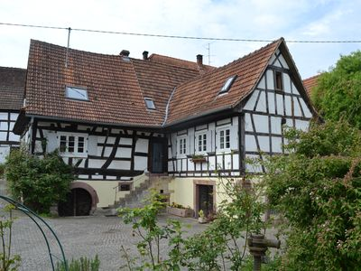 Photo for Idyllic half-timbered house with a large garden and playground and orchard