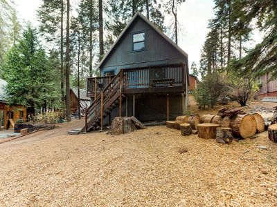 Photo for Charming chalet w/ rustic charm & great location two miles from Shaver Lake
