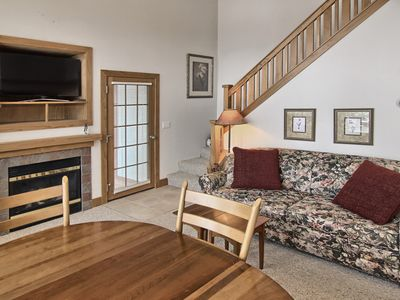 Photo for Slopeside Condo Literally Steps Away From Boyneland Chairlift.