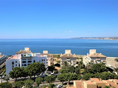 Photo for Renovated one bedroom penthouse with amazing views, Close to beach, restaurants and Estepona port