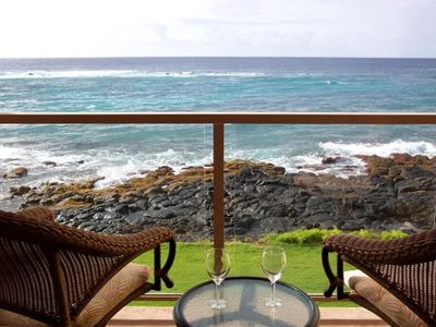 Photo for Oceanfront Luxury Retreat for Two (with A/C) in Poipu Beach, Kauai