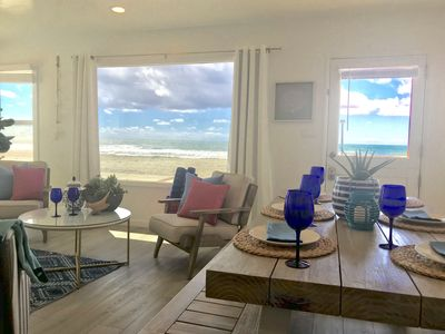 Photo for Experience the FUN of true BEACHFRONT Living, Take Long Walk on Real Sandy Beach