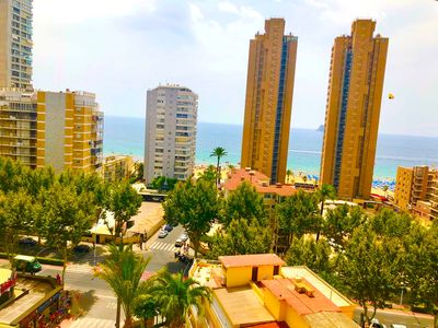 Photo for Cozy flat 2 min from the sea for 5 people, 2 bedrooms, sea view