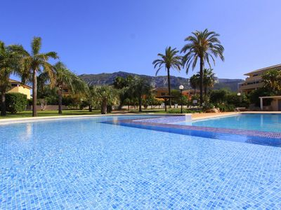 Photo for Modern and comfortable apartment in Denia, on the Costa Blanca, Spain  with communal pool for 8 persons