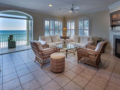 Photo for ONLY 3 night Min. TRUE Beach Front! Gorgeous Villa/ Pool. Large private balcony!