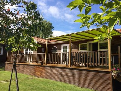 Photo for Beautiful wooden chalet with all comfort in quiet surroundings