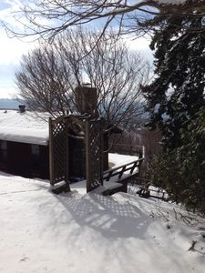 Welcome to a snowy mountain retreat..