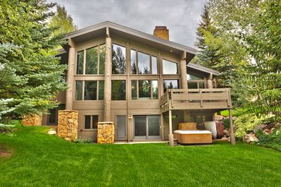 Amazing views of Deer Valley slopes out the back of this amazing vacation home.