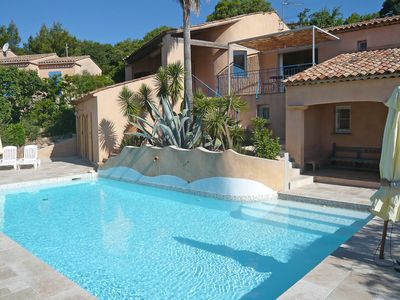Photo for This 5-bedroom villa for up to 10 guests is located in Sainte Maxime and has a private swimming pool