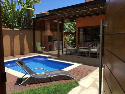 Photo for Beautiful front beach house with 5 suites, Pool, Barbecue, OiTV and WI-FI