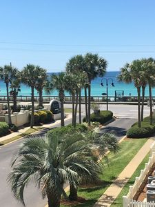 View from the patio! Google maps coordinates 30.379480,-86.391050. Security on