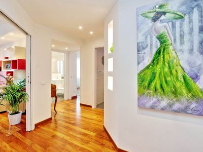 Photo for RATES ALL INCLUSIVE! Stylish penthouse with terraces, close to Vatican, subway!
