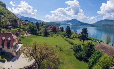 Photo for Exceptional: studio in charming villa with private beach in Veyrier du Lac