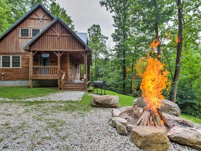 Photo for Blues Moon - Music Lover's Cabin in Red River Gorge! Pool Table Hot Tub Balcony