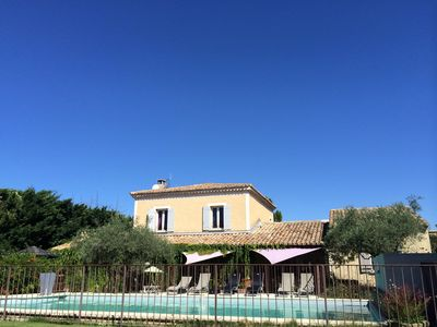 Photo for Bastide of charm between Luberon and Antiquaires, secure swimming pool, playground
