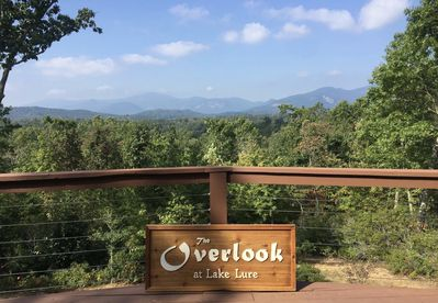 The Overlook at Lake Lure has the best mountain views in Western North Carolina!