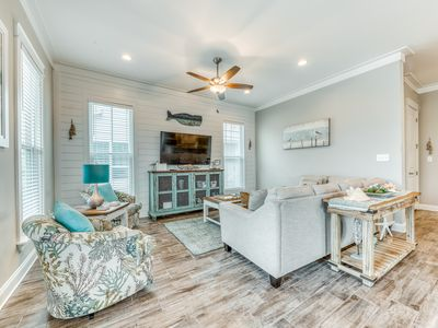 Photo for Vacation home by the beach w/ a fenced yard in a charming master-planned village