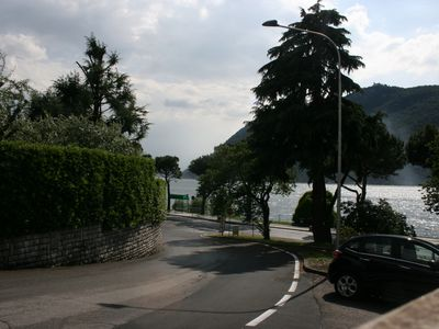 Photo for Nice apartment a few meters from the lake with a usable portico.