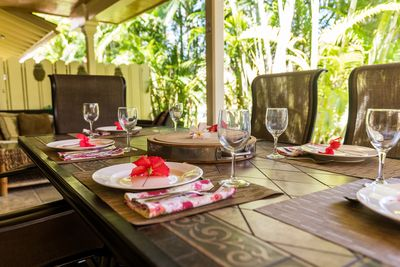 Private Lanai with Dining Area