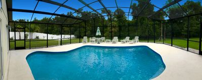 Photo for Lovely villa with LARGE PRIVATE POOL & CONSERVATION VIEWS - 4 miles from Disney