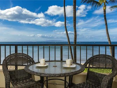 Photo for Ocean Front views make you feel like you're sitting on the water at the Sugar Beach Resort #334