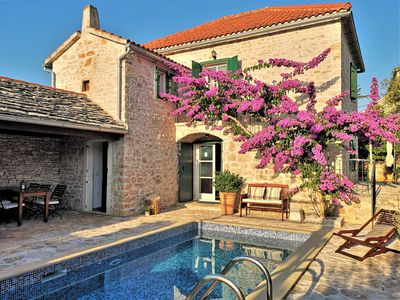 Photo for 19th century Dalmatian villa with swimmingpool, luxury&peaceful, close to beach