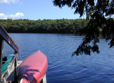 Private dock and float with kayak and canoe for your use