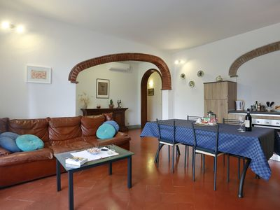 Photo for APARTMENT 90 m² WITH PRIVATE GARDEN AND POOL: The Compagnia del Chianti