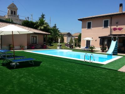 Photo for House on the ground floor in a beautiful villa with pool on Mount Etna