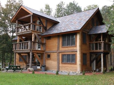 Photo for Lakeview Log Home With Resort Access On Northern Lake George