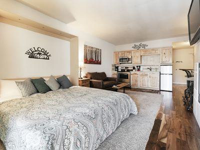 Photo for New Listing- King Bed-Clean-Quiet-Trail Side Studio Condo-Hot Tub-Pool